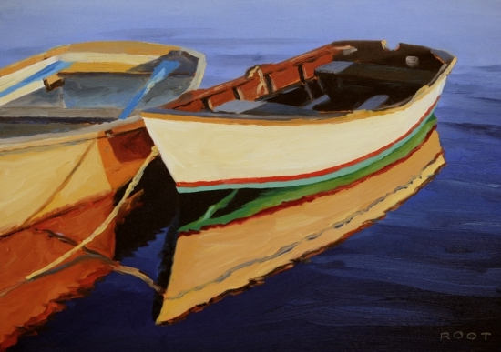 Dory Sunset by Barrington Hills Artist James Root