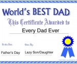 Father's Day Certificate for the World's Best Dad