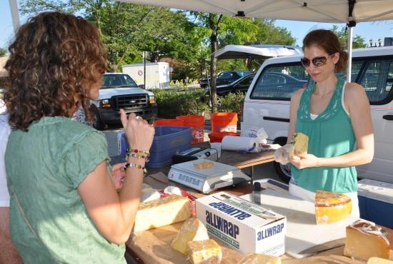 Cheese Sampling at the Barrington Farmer's Market