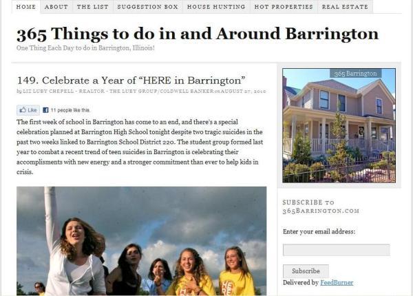 365Barrington.com Before the Redesign