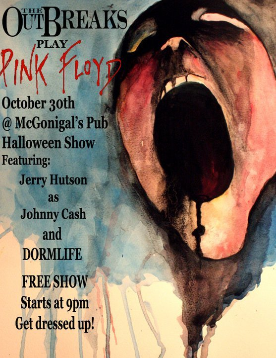 Pink Floyd Dark Side of the Moon Performance at McGonigal's Pub Halloween Party