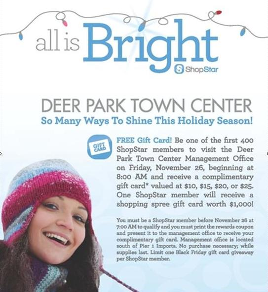 Deer Park mall Holiday Gift Card Giveaway