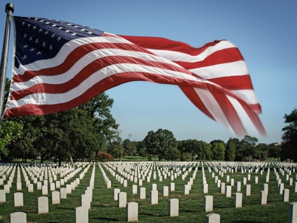 American Flag at Arlington National Cemetery