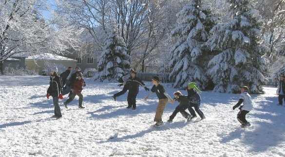 Snow and Football on Thanksgiving