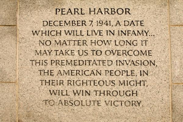 Franklin Delano Roosevelt Pearl Harbor Reaction