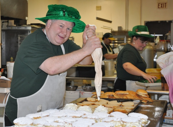 Matthew Clarke Prepares Pastries at Clarke's Bakery and Deli in Barrington, Illinois