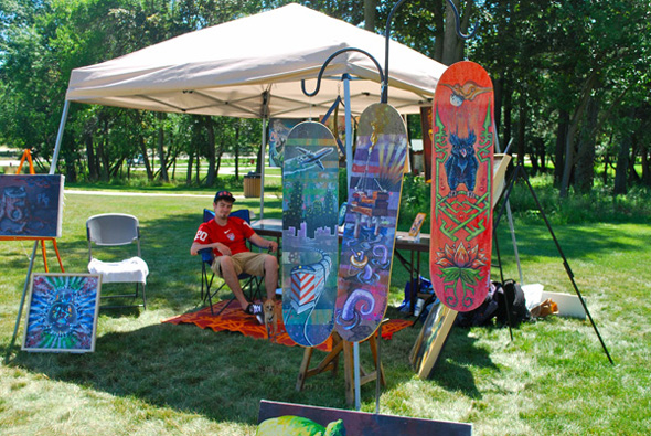 Artists Display Works at Barrington's Art in the Park