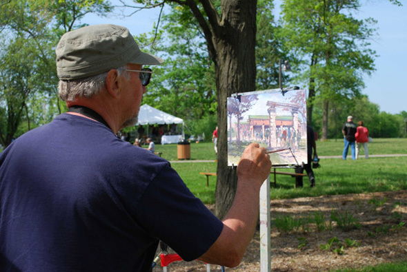 Peruse and Purchase Local Art at Art in the Park in Barrington, Illinois