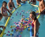 Annual Duck Races in Barrington, Illinois
