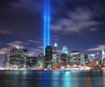 Memorial Lights at the World Trade Center Site