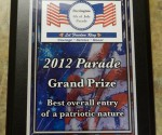 Grand Prize Plaque - Barrington Animal Hospital