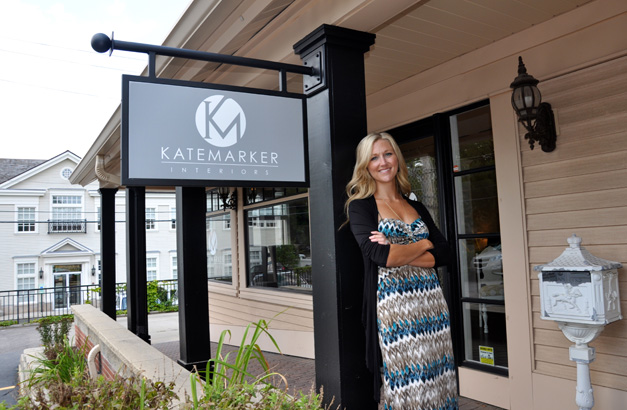 Kate Marker Outside Kate Marker Interiors at 220 South Cook Street in Barrington, Illinois