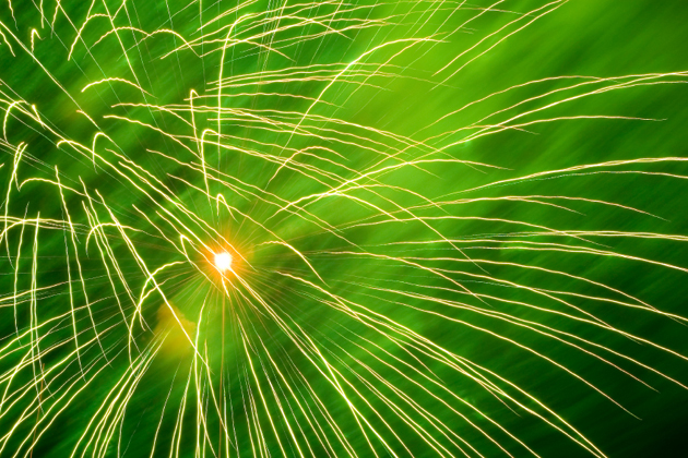 Post - Green Fireworks