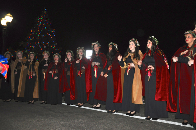 Barrington High School Madrigal Singers at Santa's Arrival