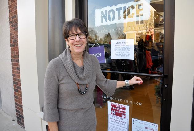 Mari Barnes Outside Notice in Barrington