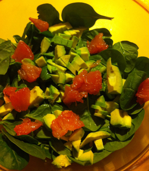 Post 300 - Kelly Donlea's Quinoa, Spinach, Avocado and Grapefruit Salad