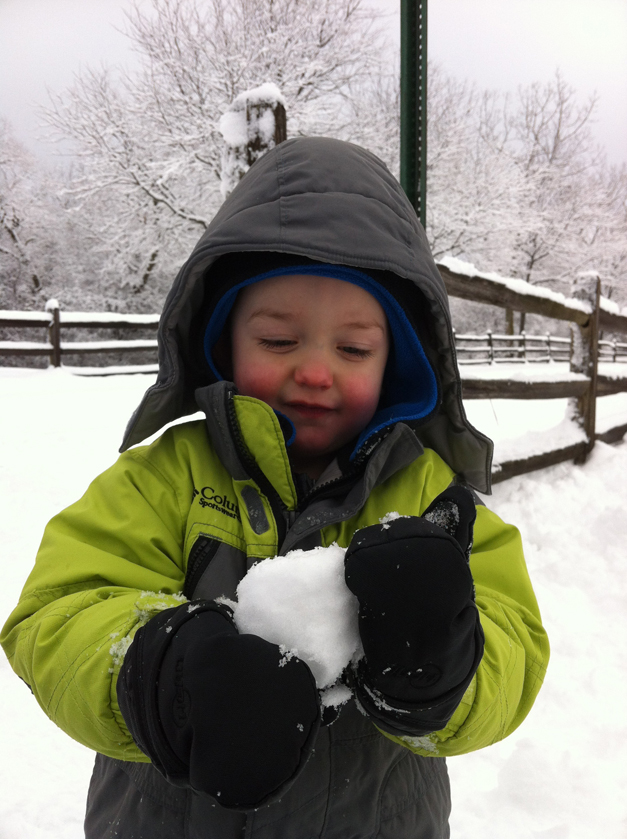 "Second Place Winner:  ""My First Snowball"" by Tracy Mylin"