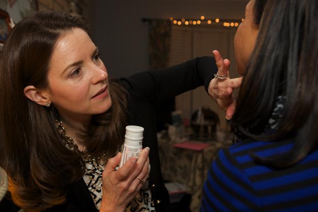 Amanda Hines Sampling Votre Vu Skincare Line