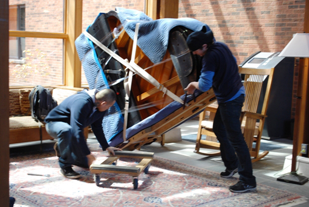 Moving the Piano at the Barrington Area Library - Courtesy of Karen McBride