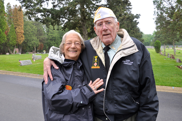 James and Doris Mulvihill at Evergreen Cemetery on Memorial Day