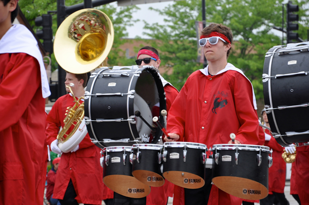 Barrington High School Band Marches in the Memorial Day Parade