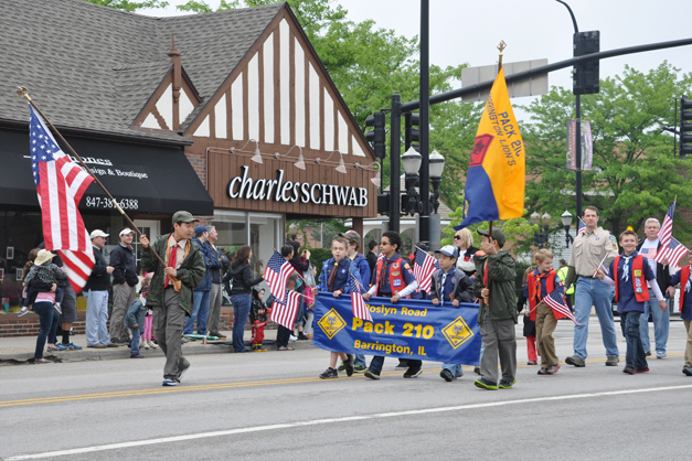 Cub Scouts in Barrington's Memorial Day Parade