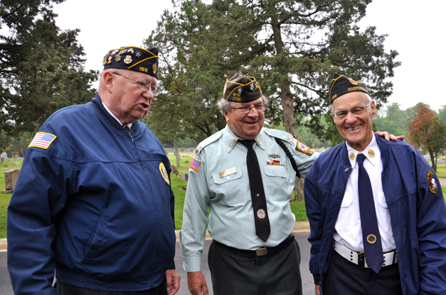 VFW Post 7706's Paul Corwin (Center) with Fellow Veterans in Barrington
