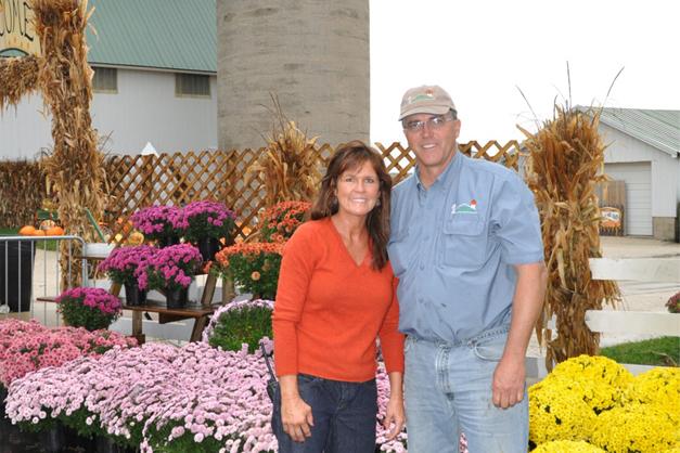 Terri and Lloyd Goebbert at Goebbert's Hampshire Farm - Courtesy of the Goebbert Family