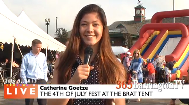 Catherine Goetze Reports from the Brat Tent for 365Barrington TV
