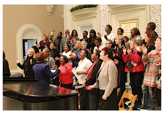 Members of Harmony Hope and Healing perform with a local choir. Photo courtesy of Harmony Hope & Healing.