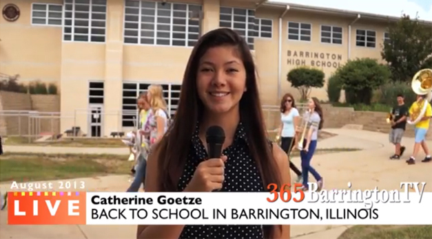 Catherine Goetze's Back to School Report for 365BarringtonTV