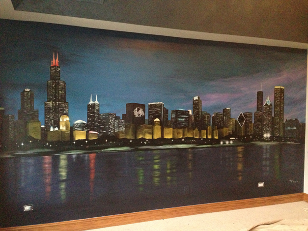 Bella Muri Chicago Skyline Mural - Photo Provided by Artist Melissa Loutos