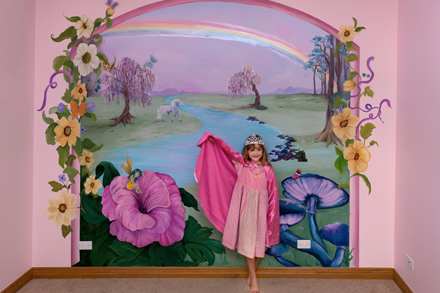 Bella Muri Fairy Mural in Child's Room - Photo Provided by Melissa Loutos