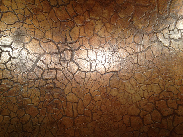 Bella Muri Metallic Crackle Finish - Photo Provided by Artist & Owner, Melissa Loutos