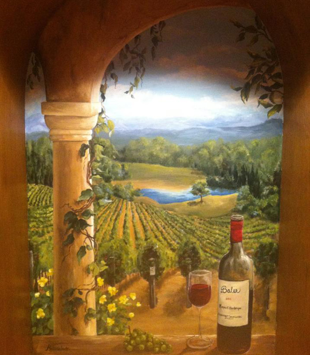 Bella Muri Wine Vineyard Mural - Photo Provided by Artist, Melissa Loutos