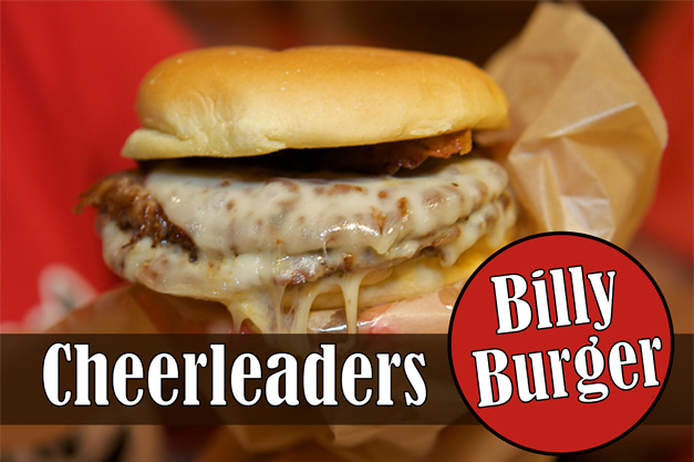 "Find Our Poll to Vote for the BHS Cheerleaders' ""Billy Burger"" - Photographed by Julie Linnekin"