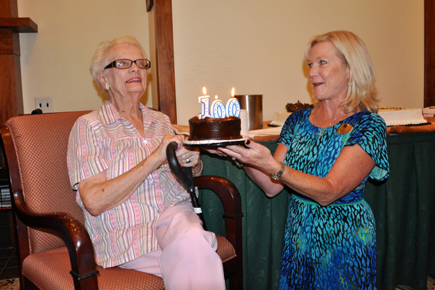 Betty Catlin Celebrates her 100th Birthday at The Garlands of Barrington