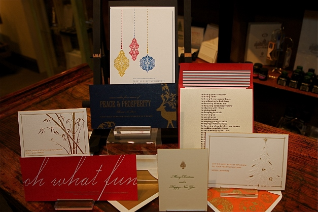 A sampling of TT Patton's bespoke holiday cards - photographed by Julie Linnekin