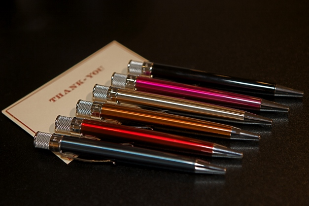 Board members would love to receive Retro51 Pens in an array of colors - Photographed by Julie Linnekin
