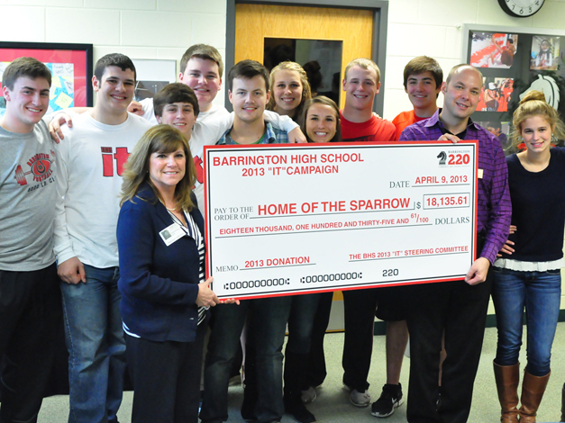 "Home of the Sparrow was ""IT"" Club's 2012-2013 charity of choice"