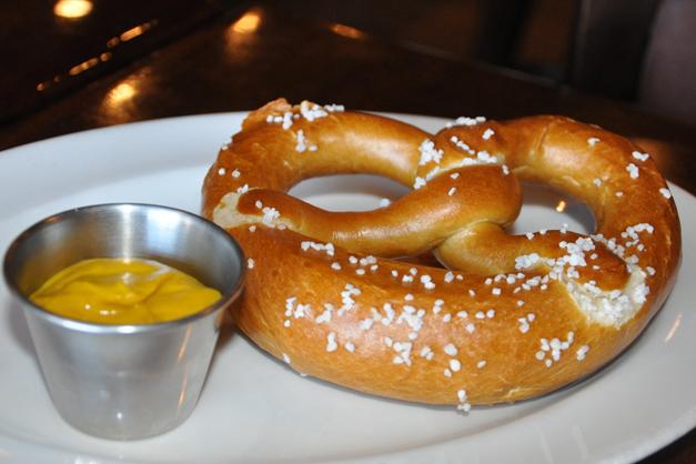 Warm Baked Pretzels at Bauer's Brauhaus