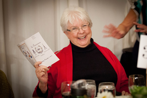 JoAnne Ballard Wins L'Eiffel Bistrot Prize - Photographed by Liz Benedetto for Barrington Junior Women's Club