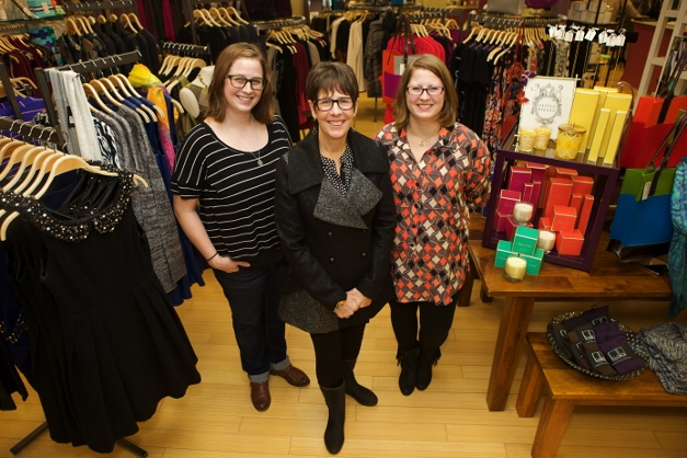 The Notice team: Becky Jackson, Mari Barnes, and Hannah Hannick - photographed by Julie Linnekin