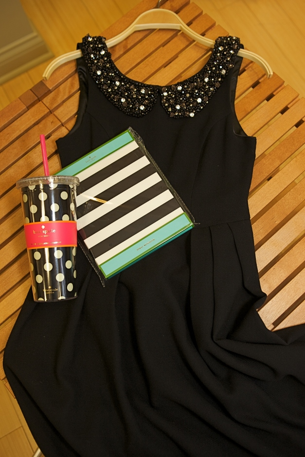 An Eva Franco dress, paired with Kate Spade thermal cup and notebook - photographed by Julie Linnekin