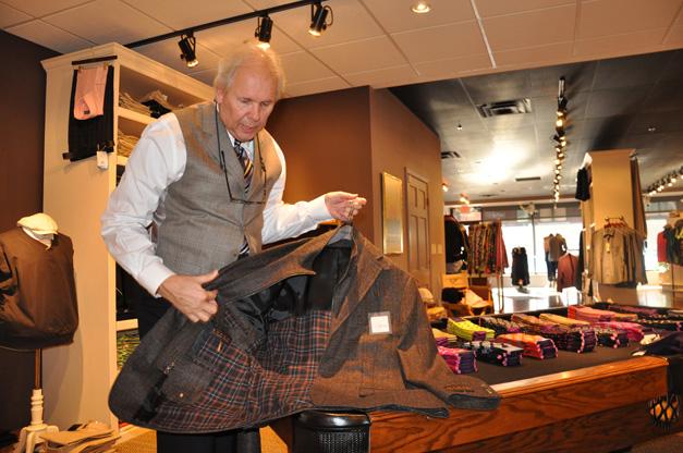 Peter Yankala at Phillip's Men's Wear in Barrington