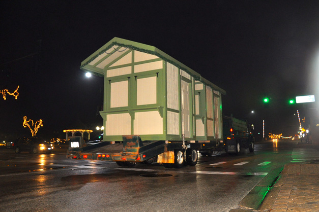 Pepper Construction Transports ChristKindlFest Structures down Main Street in Barrington