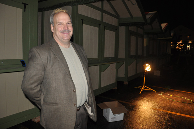 Garlands Executive Director David Loop Helps with ChristKindlFest Setup