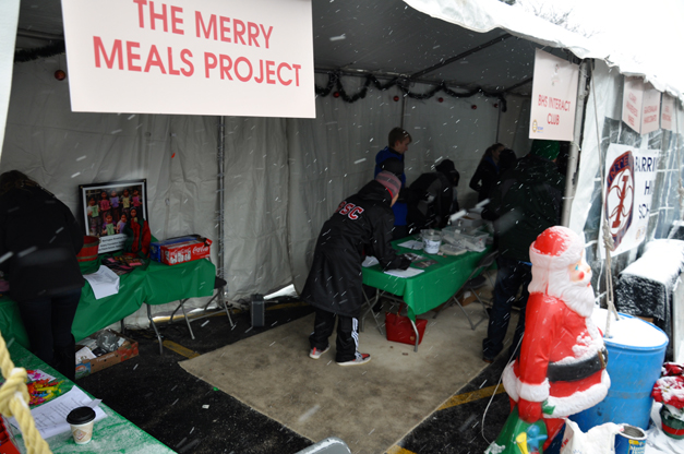 "Feed Hungry Families in Guatemala by Helping Pack ""Merry Meals"" with Barrington High School's Interact Club at ChristKindlFest, 2014"