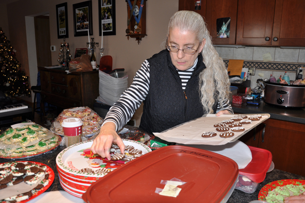 Heather McLean Prepares for the Community Church of Barrington Cookie Walk