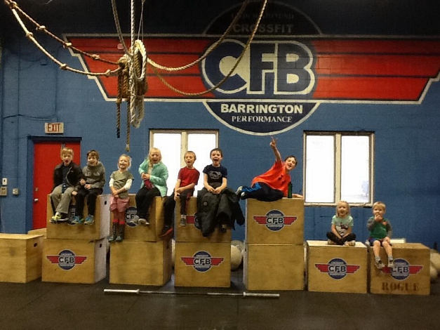 CrossFit kids, post workout - Courtesy of CrossFit Barrington